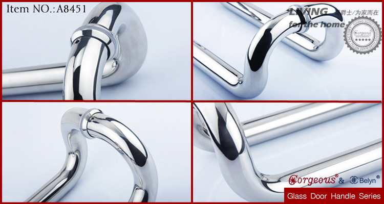 C Shape Stainless Steel Commercial Glass Door Handles